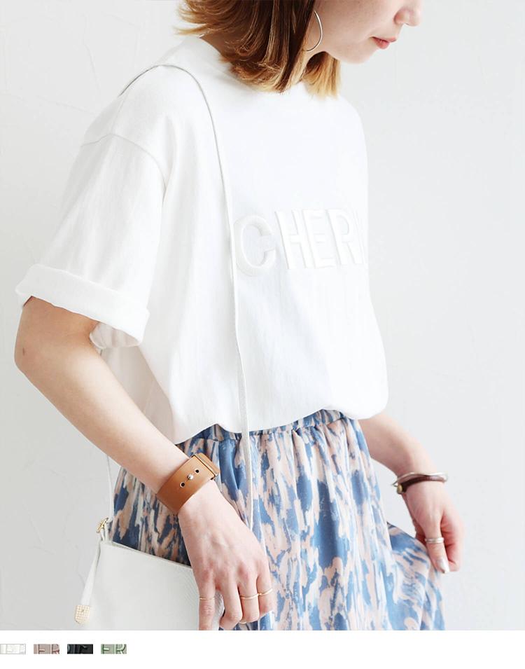 立体ロゴ刺繍Tシャツ