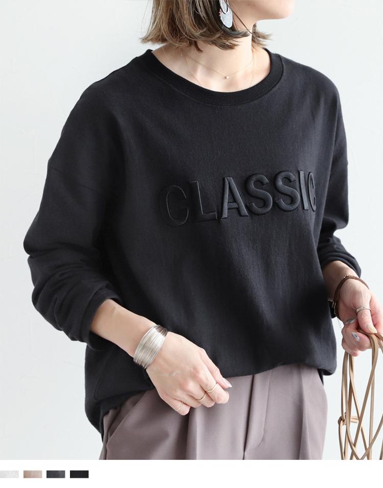 チ立体ロゴ刺繍ロングスリーブTシャツ