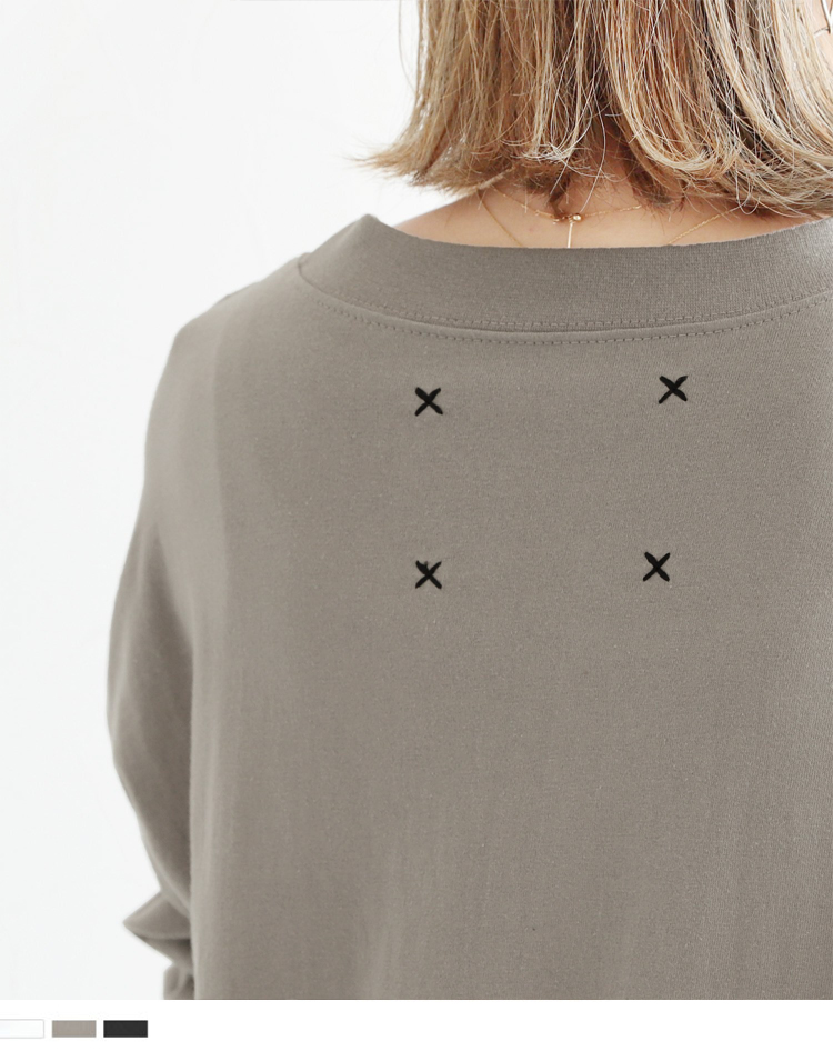 バックステッチ美シルエットロングTシャツ