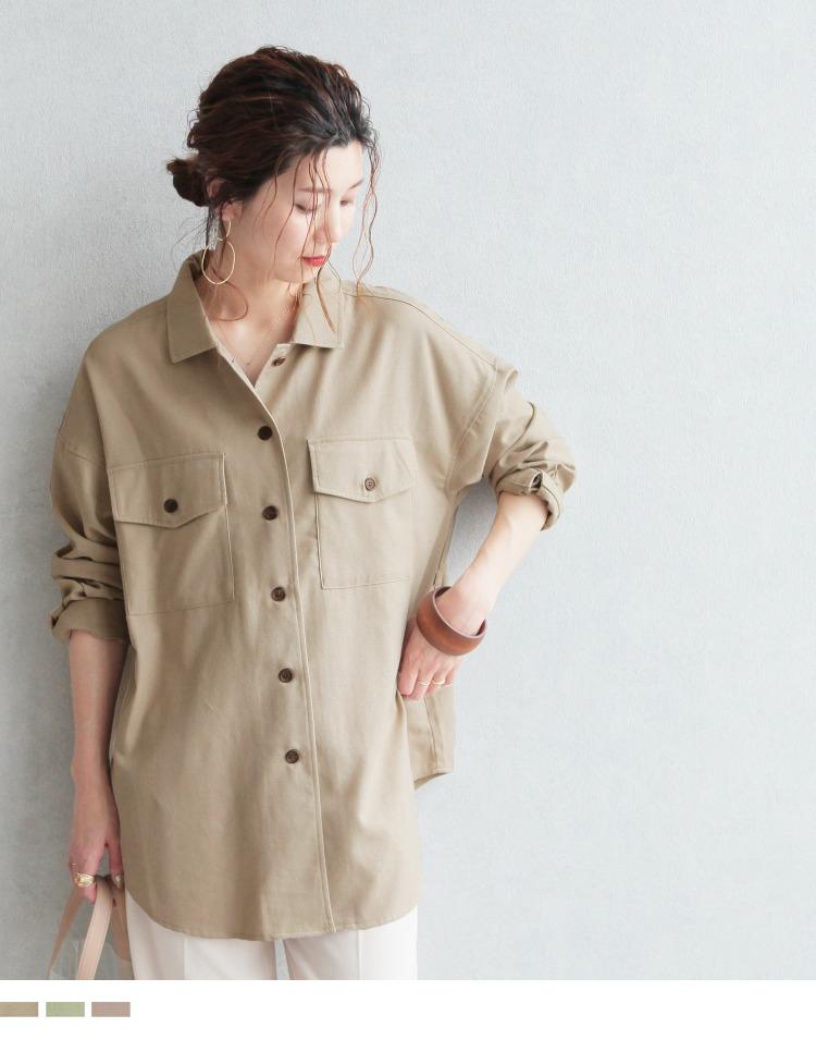 リネンミックスCPOシャツジャケット